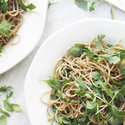 Arugula & Sesame Noodles