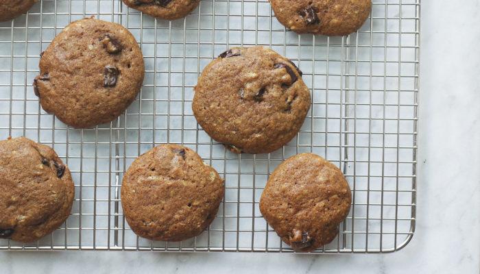 Vegan Einkorn Chocolate Chip Cookies