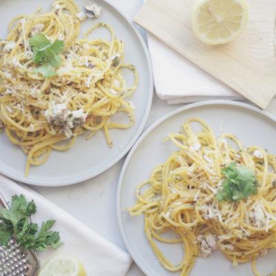 Mahi Lemon Garlic Pasta