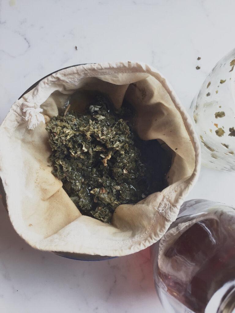 Red Raspberry Leaf Tea Infusion